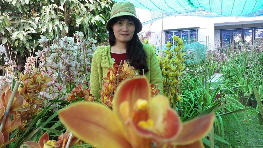 Hoa Địa Lan Đà Lạt tại trang trại Hoa tươi Đà Lạt Tinh Hoa đang quay phim lên sóng HTVC